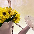 Watering Can Daisies by Sandra Foster