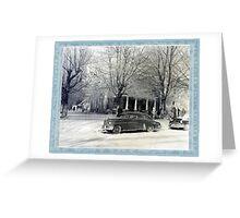C.M. Ledbetter house on fire Greeting Card