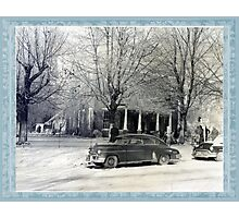 C.M. Ledbetter house on fire Photographic Print