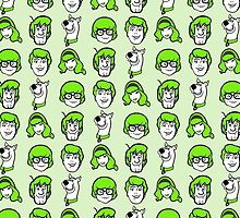 Scooby Doo Green Pattern by InvalidDomain