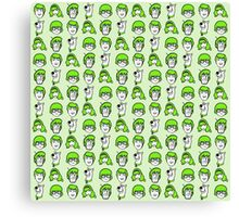Scooby Doo Green Pattern Canvas Print