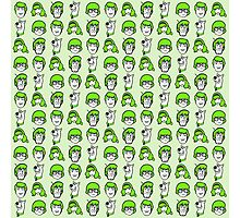 Scooby Doo Green Pattern Photographic Print