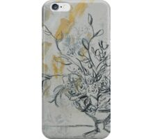 Floral in Charcoal iPhone Case/Skin