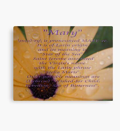 """Mary"" Metal Print"