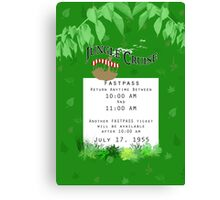 Jungle Cruise Fastpass Canvas Print