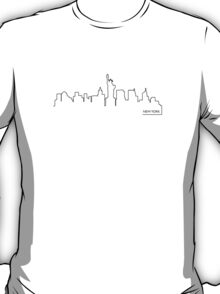 New York cityscape (black line) T-Shirt