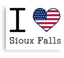 I love Sioux Falls Canvas Print
