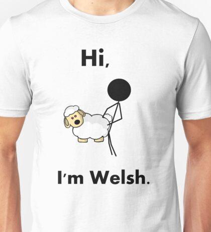 hi i'm welsh Unisex T-Shirt