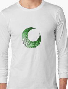 Green Moon Crest  Long Sleeve T-Shirt