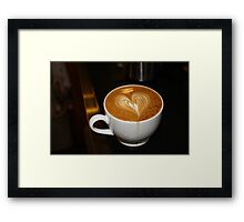 Latte Art Framed Print