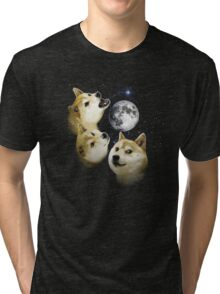 3 Doge Moon Tri-blend T-Shirt