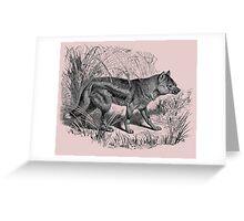 sidestriped jackal Greeting Card