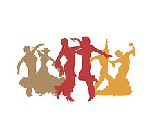 Colorful Flamenco Dancers by peculiardesign