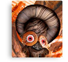 Bagel Head Canvas Print