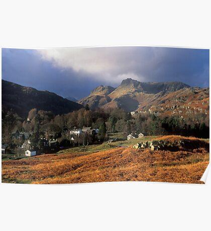 Langdale Pikes Lake District Poster