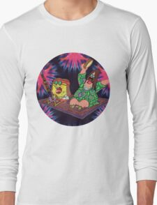 Psychedelic Sponge Long Sleeve T-Shirt