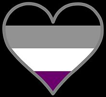 Asexual (Demi) Heart on Black by DeliriumLina