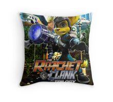 Ratchet & Clank Trilogy  Throw Pillow