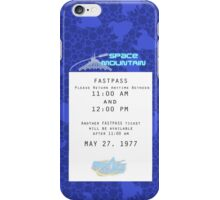 Space Mountain Fastpass iPhone Case/Skin