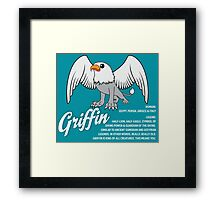 Griffin With Title Framed Print
