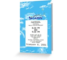 Soarin' FastPass Greeting Card