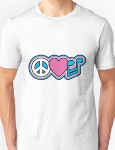 PEACE LOVE MUSIC Symbols Unisex T-Shirt