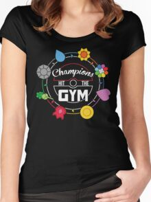 Champions Hit The Gym Women's Fitted Scoop T-Shirt