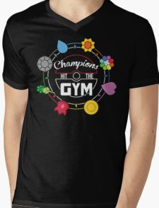 Champions Hit The Gym Mens V-Neck T-Shirt