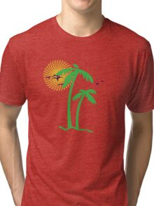 Tropical trees Tri-blend T-Shirt