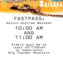 Thunder Mountain- Fastpass (#2) Sticker