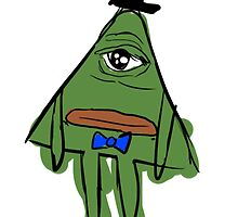 triangle pepe by screwyouihavedoctorwho.tumblr.com / tophat-queen.deviantart.com by djbunny5