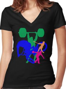2010's sports Women's Fitted V-Neck T-Shirt