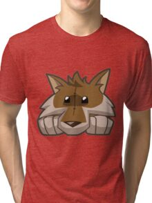 Animal Jam Wolf Plushie Tri-blend T-Shirt