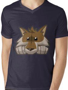 Animal Jam Wolf Plushie Mens V-Neck T-Shirt