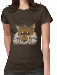 Animal Jam Wolf Plushie Womens Fitted T-Shirt