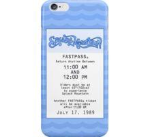 Splash Mountain Fastpass iPhone Case/Skin
