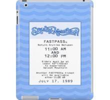Splash Mountain Fastpass iPad Case/Skin