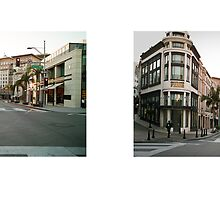 Rodeo Drive + Dayton Way, Beverly Hills, Los Angeles, California, USA...narrowed. by David Yoon