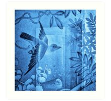 'Flying Bird' from the Blue Series Art Print