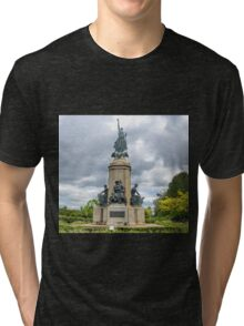 Memorial Statue at Exeter Devon UK Tri-blend T-Shirt