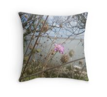Wildflowers on the Coorong Throw Pillow