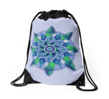 Mandala: Blue/Green  Drawstring Bag