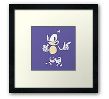 Sonic - 2015 SEGABits Design - Blend Ver Framed Print