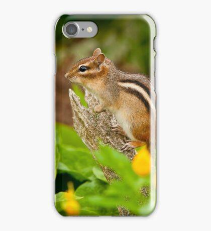 Chipmunk on Log iPhone Case/Skin