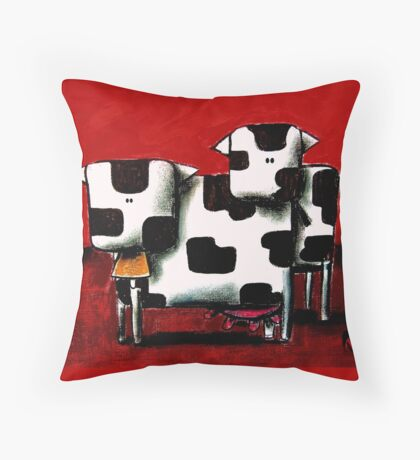 Baby Bull Production Throw Pillow