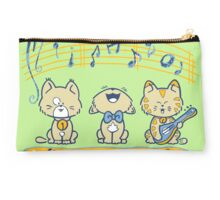 Cute singing kittens Studio Pouch