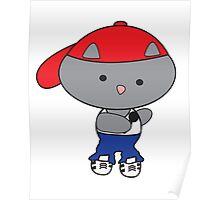 Rapper Cat in Tank Top Poster