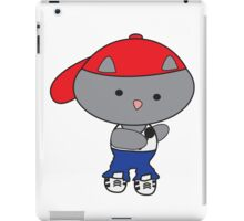 Rapper Cat in Tank Top iPad Case/Skin