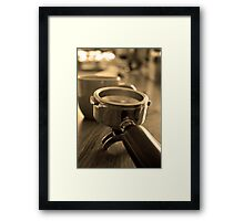 making coffee Framed Print