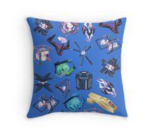 Ingress Gear Resistance Blue Throw Pillow